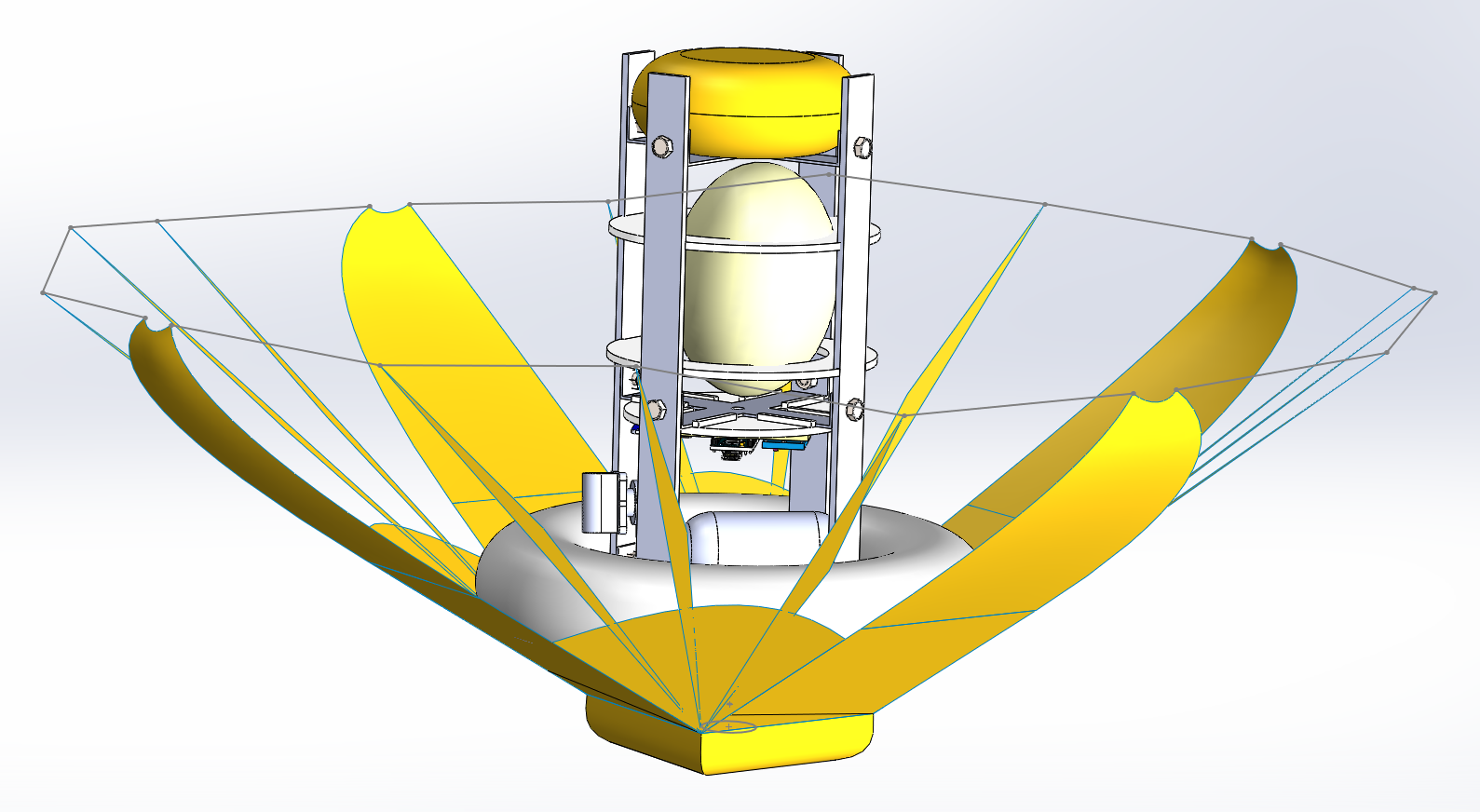First CAD model of CanSat